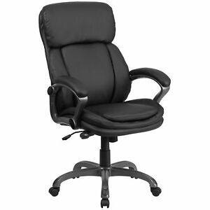 Flash Furniture Black Leather Executive Swivel Office Chair Bt 90272h gg