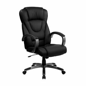 Flash Furniture Black Leather Executive Swivel Office Chair Bt 9069 bk gg
