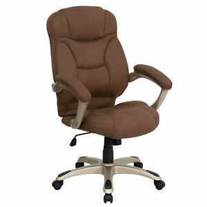 Flash Furniture Brown Executive Swivel Office Chair Go 725 bn gg