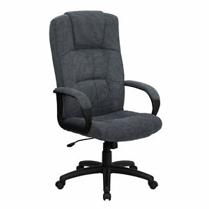Flash Furniture Gray Fabric Executive Swivel Office Chair Bt 9022 bk gg