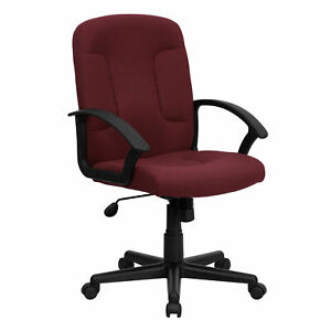 Flash Furniture Burgundy Fabric Executive Swivel Office Chair Go st 6 by gg