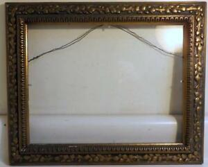Antique Victorian Era 13x16 Frame W Glass Hold 10x13 Picture Or Mirror C1880s