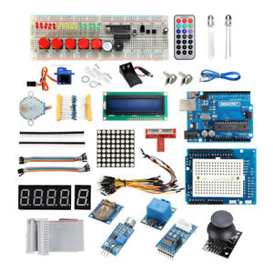 Ultimate Uno R3 Starter Kit For Arduino 1602lcd Servo Relay Rtc Resistor Led