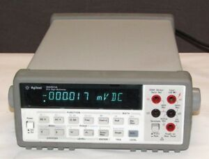 Hp Agilent Keysight 34401a Digital Multimeter 6 6 5 Digit Tested Working