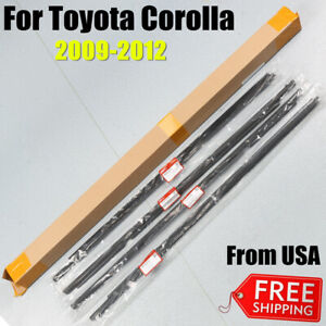 4x For 2009 2012 Toyota Corolla Weatherstrip Window Moulding Trim Seal Belt Usa