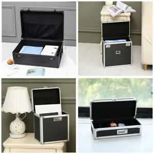 Portable Lockable File Medical Supplies Tote Security Different Storage Case Box