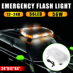 General 24 12v 24v 56w Super Bright Led Flash Strobe Light Beacon Bar Warning