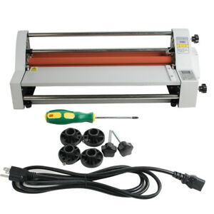 17 Hot Cold Roll Laminator Single dual Sided Laminating Machine Safe Use