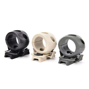 Tactical Helmet Flashlight Mount Clip Military Airsoft Light Clamp Adaptor S!