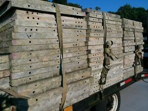 Symons Aluminum Silver Concrete Wall Forms With Tri axel Trailer Buy It Now