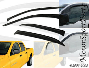 Outside Mount 2mm Vent Visors Deflector 4pcs Ford Explorer 02 03 04 05 2002 2005