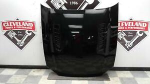 2013 2014 Ford Mustang Gt Oem Front Hood Assembly W Scoops Black Minor Damage