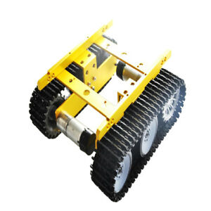 Rc Wifi Robot Shock Absorber Tank Car Chassis Controlled Code Wheel Golden