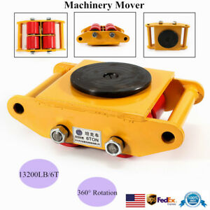 Sale 6t Machinery Mover Machine Dolly Skate Roller 360 Rotation Cap Free Ship