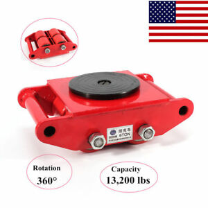 6t 13 200lb Industrial Machinery Mover Skate 4 roller Heavy Duty Moving Roller