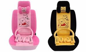 On Sale Winnie The Pooh Car Seat Covers Cushion Accessories 18pcs