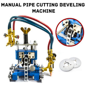 Cg 211y Manual Pipe Cutting Beveling Machine Track Torch Burner Aluminum Alloy