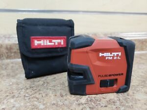 hilti Pm 2 l Red 2 Line Vertical Horizontal Laser Level W Case Free Shipping