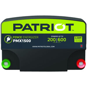 Patriot Pmx1500 Fence Energizer 15 Joule For Electric Fence