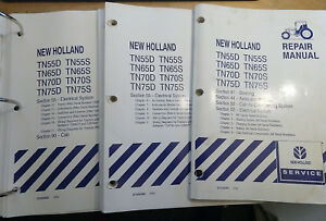 New Holland Tn55d Tn55s Tn65d Tn65s Tn70d Tn75d Tn75s Partial Service Manual Oem