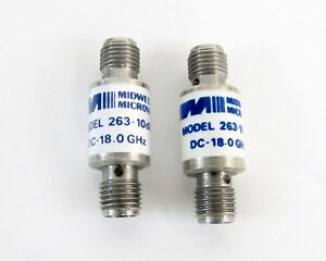 Lot Of 2 Midwest Microwave 263 10 Sma F f Attenuator Dc 8ghz 2 Watt 10 Db