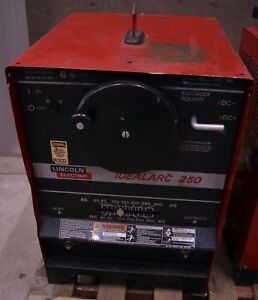 Lincoln Idealarc 250 Ac dc250 Welder W Ln 7 Gma Wire Feeder Stick Arc 1 phase