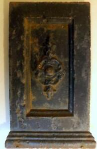 Antique 8x12 Cast Iron Panel From Victorian Garden Planter Weighs 4 Lbs C1800s