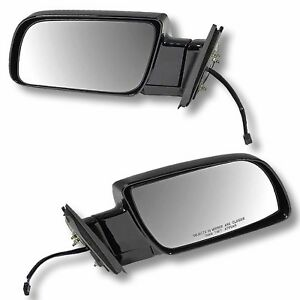 88 98 Chevy Gmc Pu Pickup Truck Door Mirrors Black Power Left Right Side Set