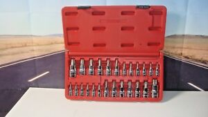 Mac Tools 25 Pc Star And Tamper Resistant Torx Tp Driver Set Chrome Smxt25b H5