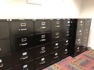 4 Drawer Legal Size File Cabinet By Hon Office Furniture W lock key