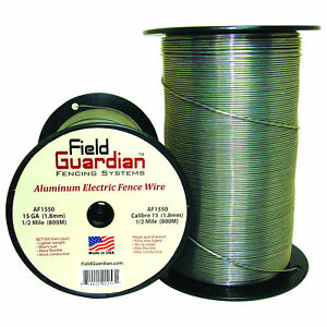 Field Guardian 15 Ga Aluminum Wire 1 2 Mile Electric Fence Af1550 814421012531