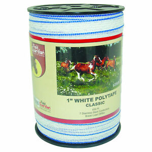 Field Guardian 1 White Polytape Classic Electric Fence 635665 814421013002