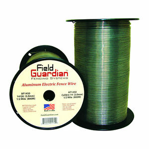 Field Guardian 14 Ga Aluminum Wire 1 2 Mile Electric Fence Af1450 814421011749