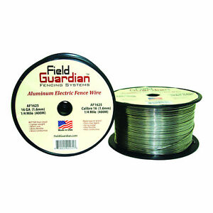 Field Guardian 16 Ga Aluminum Wire 1 4 Mile Electric Fence Af1625 814421011718