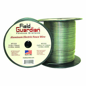 Field Guardian 15 Ga Aluminum Wire 1 4 Mile Electric Fence Af1525 814421012524