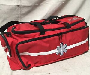 Fieldtex Trauma Bag Red 15 In l 28 In w 11 In h Bag Only Material1000d Cordura
