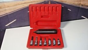 Snap on Tools 8 Piece 3 8 Drive Impact Driver Set Epit208 Plastic Molded Case H5