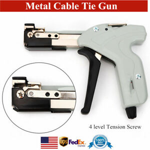 Stainless Steel Cable Tie Gun Tension Fastening Cutting Tool 4 Level Tension Usa