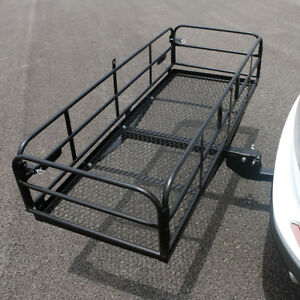 High Quality Folding Hitch Mount Cargo Carrier Rack Cargo Basket Luggage Rack