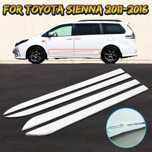 4x For Toyota Sienna 2011 2016 Car Door Chrome Body Side Moulding Trim Cover
