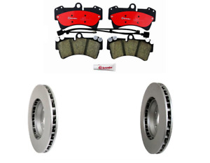 2 Meyle Front Rotor Kit Brembo Brake Pad Set For Porsche Cayenne With 350mm Disc