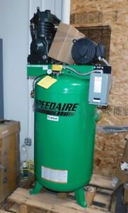 Speedaire 7 5hp 80 Gal 3 Phase Electrical Vertical Tank Mounted Air Compressor