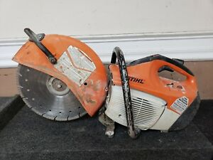 Stihl Ts420 Gas Concrete Cut off Saw Tested Working