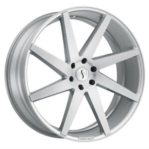 1 24x9 5 5 139 70 Status Brute Silver W brushed Machine Face Wheel rim 24