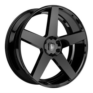 1 24x9 5 5 120 Status Empire Gloss Black Wheel rim 24 2495emp155120b74