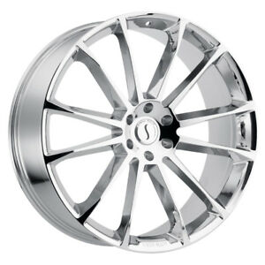1 24x9 5 5 114 30 Status Goliath Chrome Wheel rim 24 2495gth305114c76