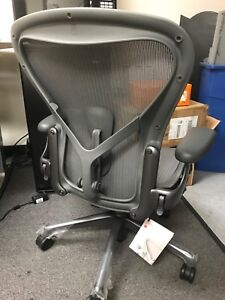New Herman Miller Remastered Aeron Chair Open Box Size B