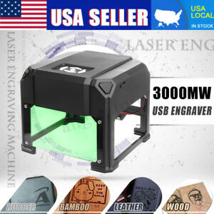 3000mw Desktop Laser Engraving Cutting Machine Engraver Diy Logo Cutter Cnc Usb