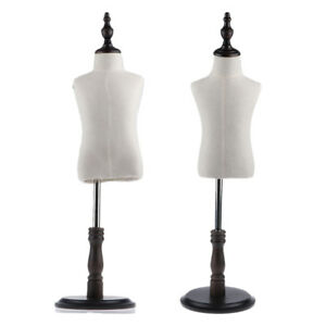 2pcs Linen Cover Mannequin Torso Model W Stand For Kids Clothing Display