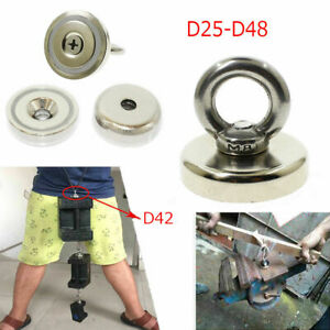 Recovery Neodymium Magnets Hook Strong Sea Fishing Pulling Force Hunting Eyebolt